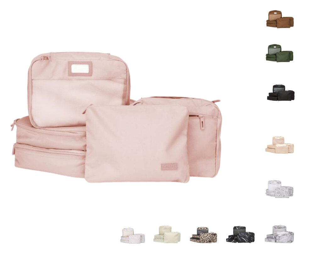 Calpack Luggage Review: packing cubes