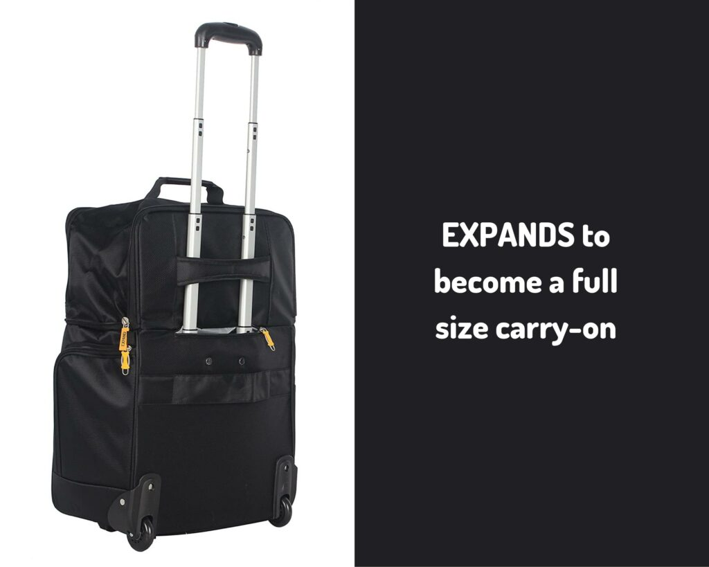 Lucas Luggage Review: Lucas Cabin Luggage 15 Inch - expands