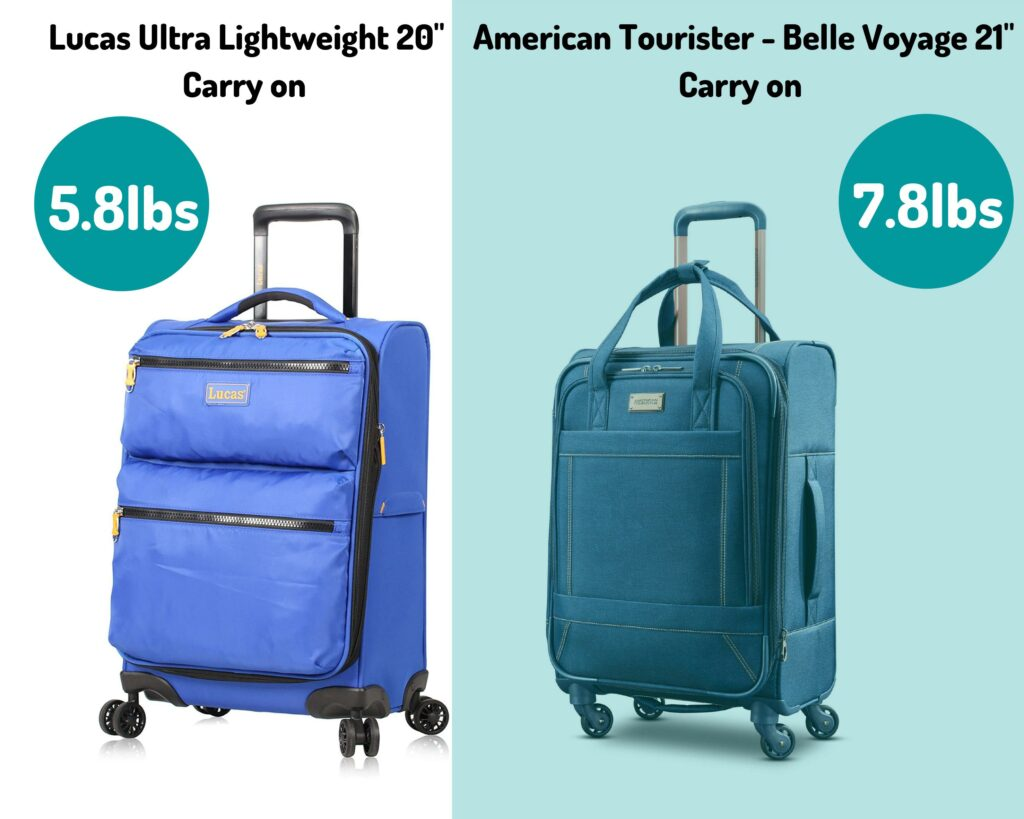Lucas Luggage Review: Lucas vs American Tourister Carry on weight