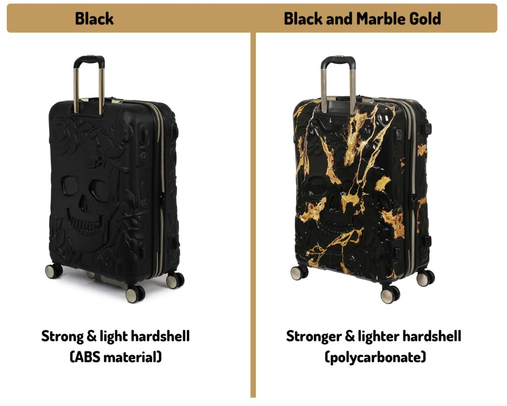 IT Luggage Skulls II Review: black vs gold material