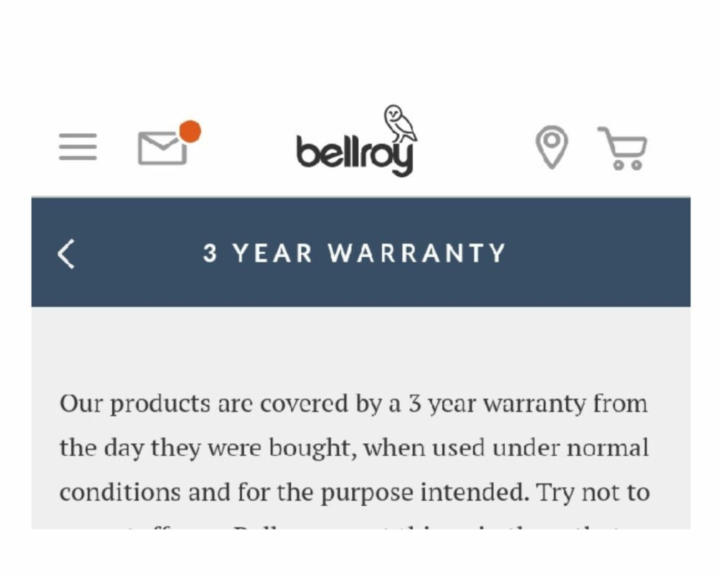 Bellroy Transit Backpack Review: Warranty