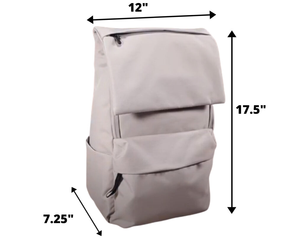 Everlane ReNew Transit Backpack Review: laptop sleeve and bottle pocket