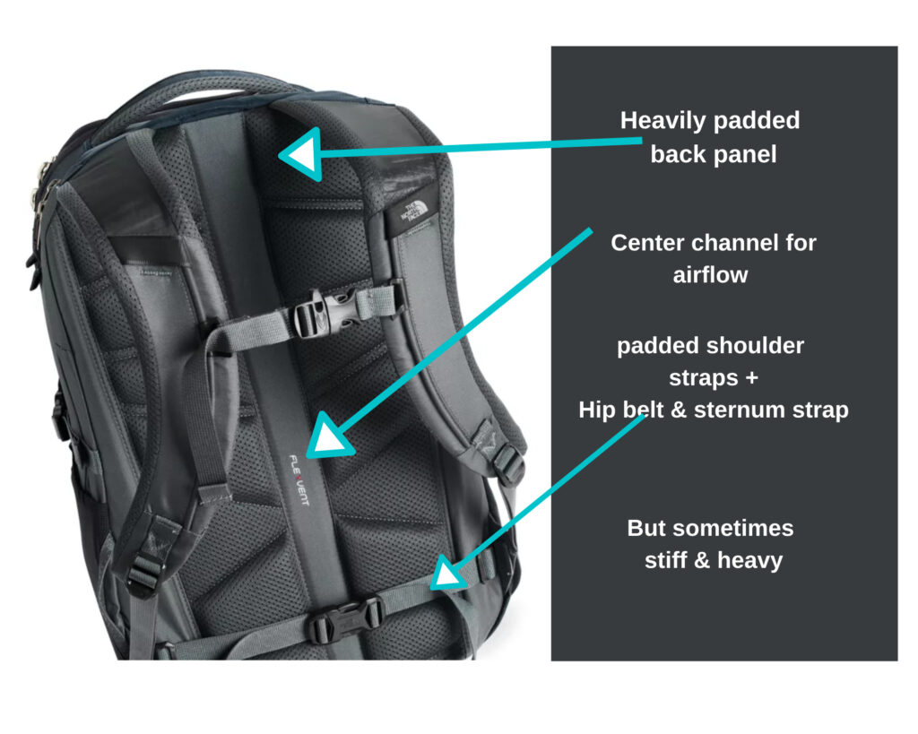 The North Face Borealis Backpack review: Back view