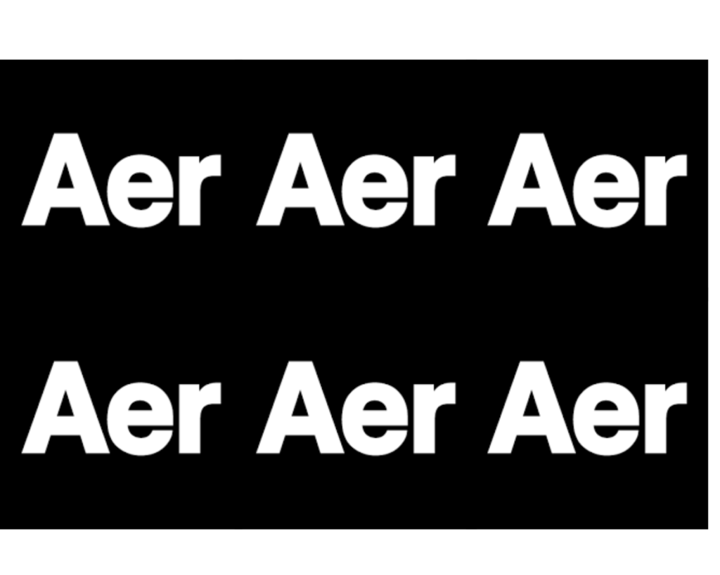 AER Fit Pack 2 review: AER logo
