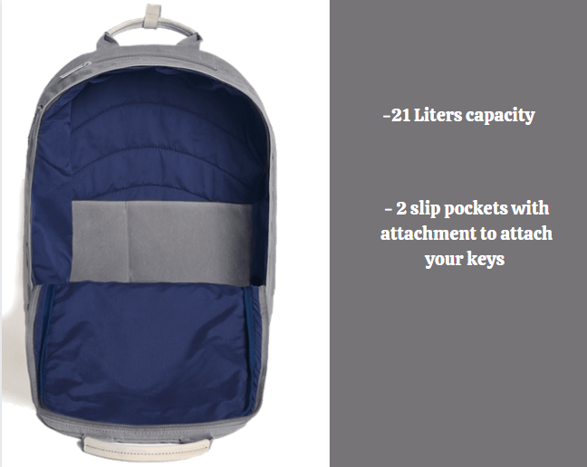 Day Owl backpack review: Day Owl main compartment