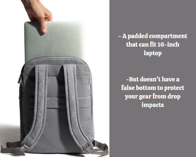 Day Owl backpack review: Day Owl laptop compartment