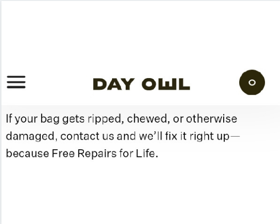 Day Owl backpack review: Day Owl warranty