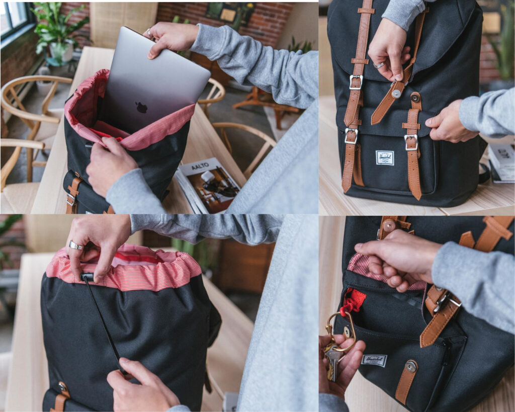 Herschel Little America Backpack Review: Little America backpack storage compartment