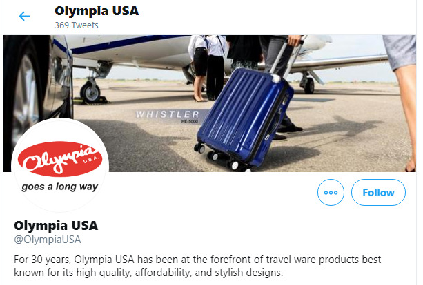 Olympia Luggage review: twitter about us image