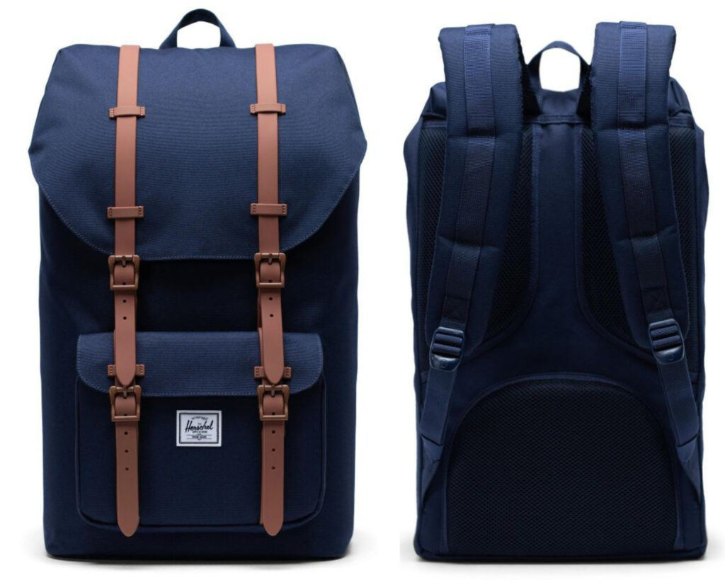 Herschel Little America Backpack Review: Little America backpack front and back