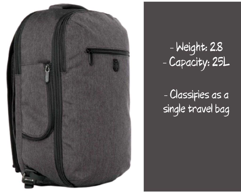 Tortuga Setout Laptop Backpack Review: Tortuga capacity