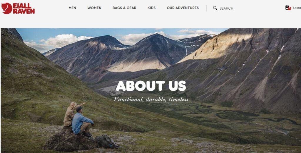 Fjallraven Kanken backpack review: about us image on website
