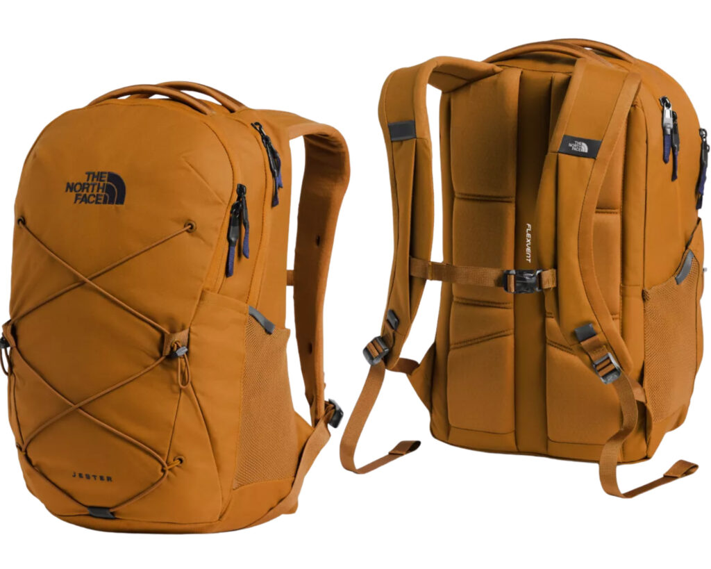 The North Face Jester backpack review: The Jester pack front and back view