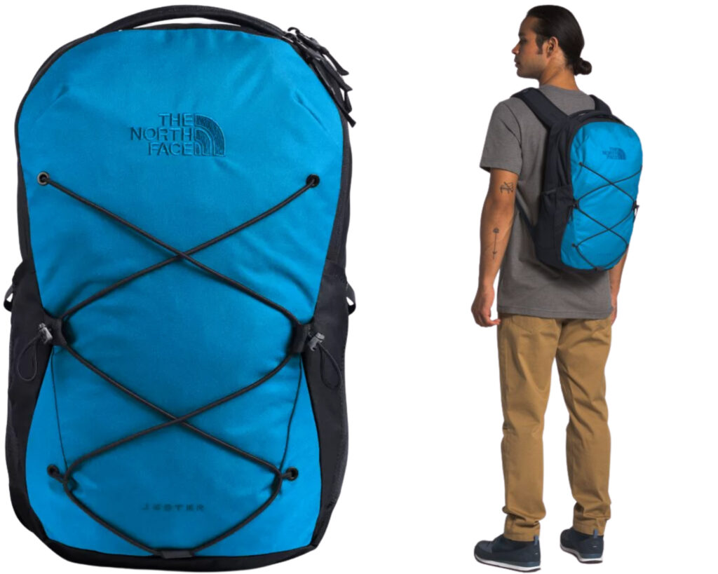 The North Face Jester backpack review: The Jester pack male model carrying it