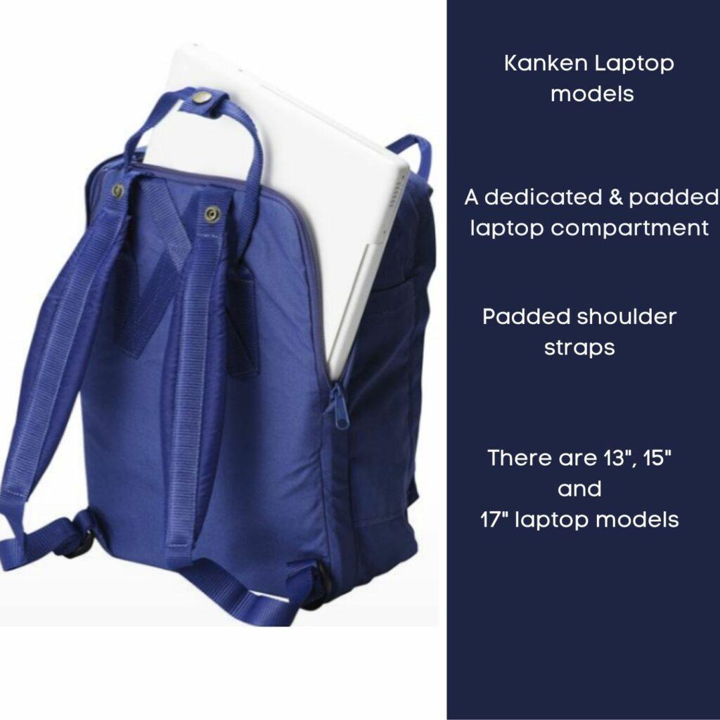 Fjallraven Kanken backpack review: Fjallraven Kanken Laptop model back view