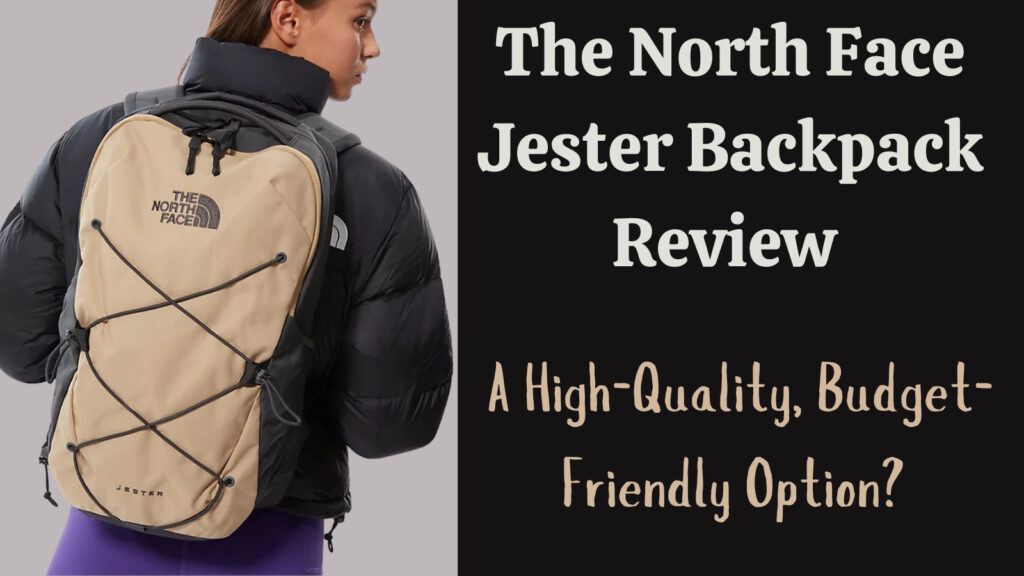 The North Face Jester Backpack review: feature image of woman with bag