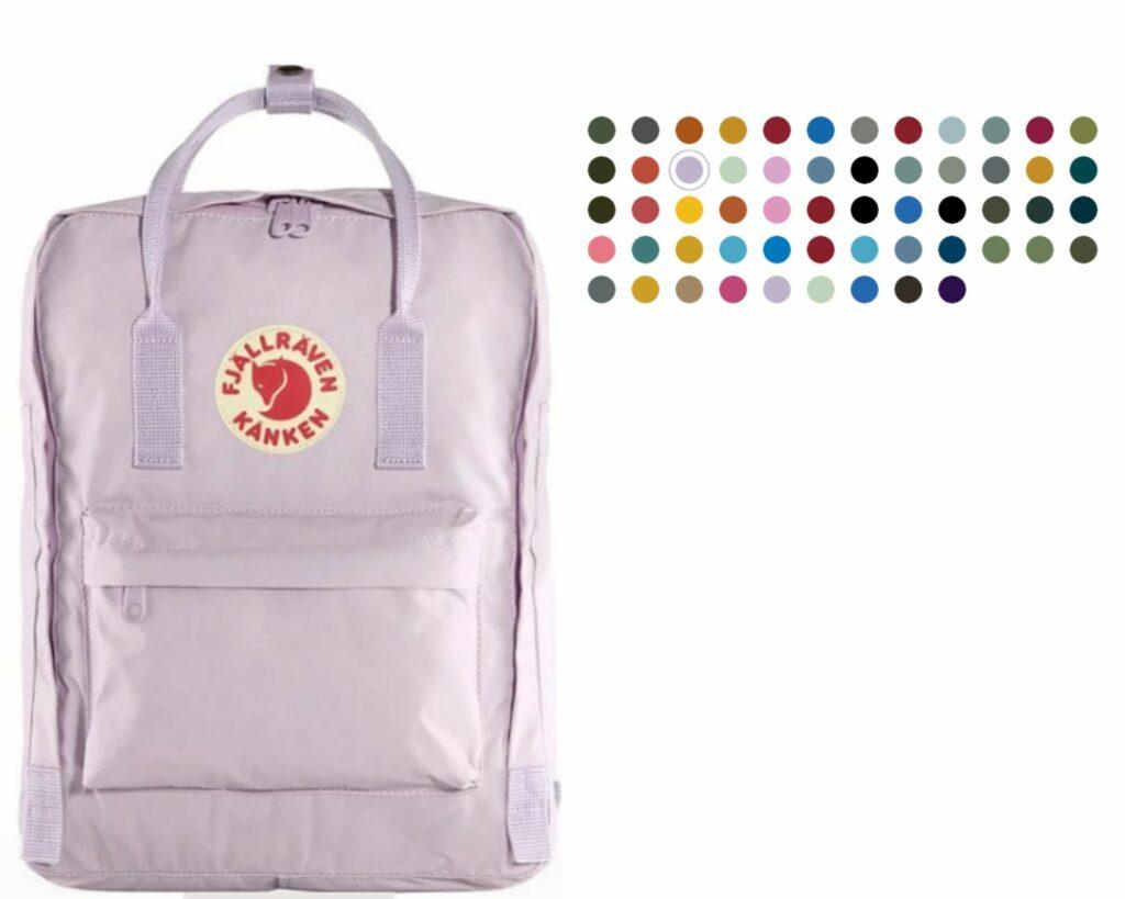 Fjallraven Kanken backpack review: Fjallraven Kanken color collections