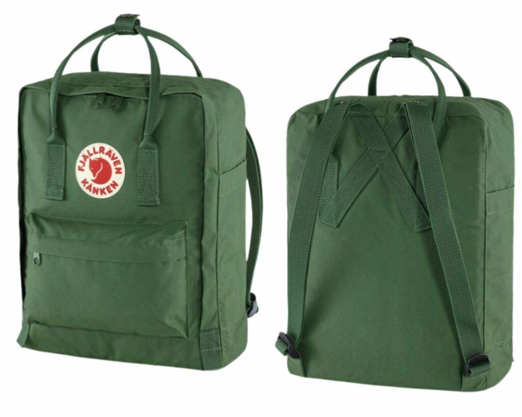 Fjallraven Kanken backpack review: Fjallraven Kanken front and back view