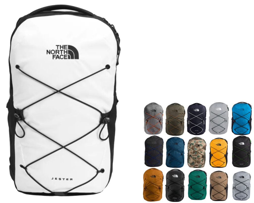 The North Face Jester backpack review: The Jester pack color collections