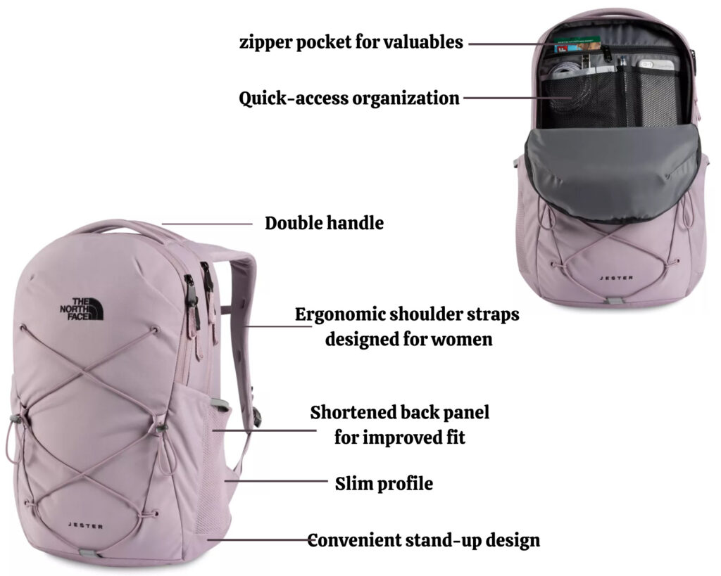 The North Face Jester backpack review: The Women's Jester backpack