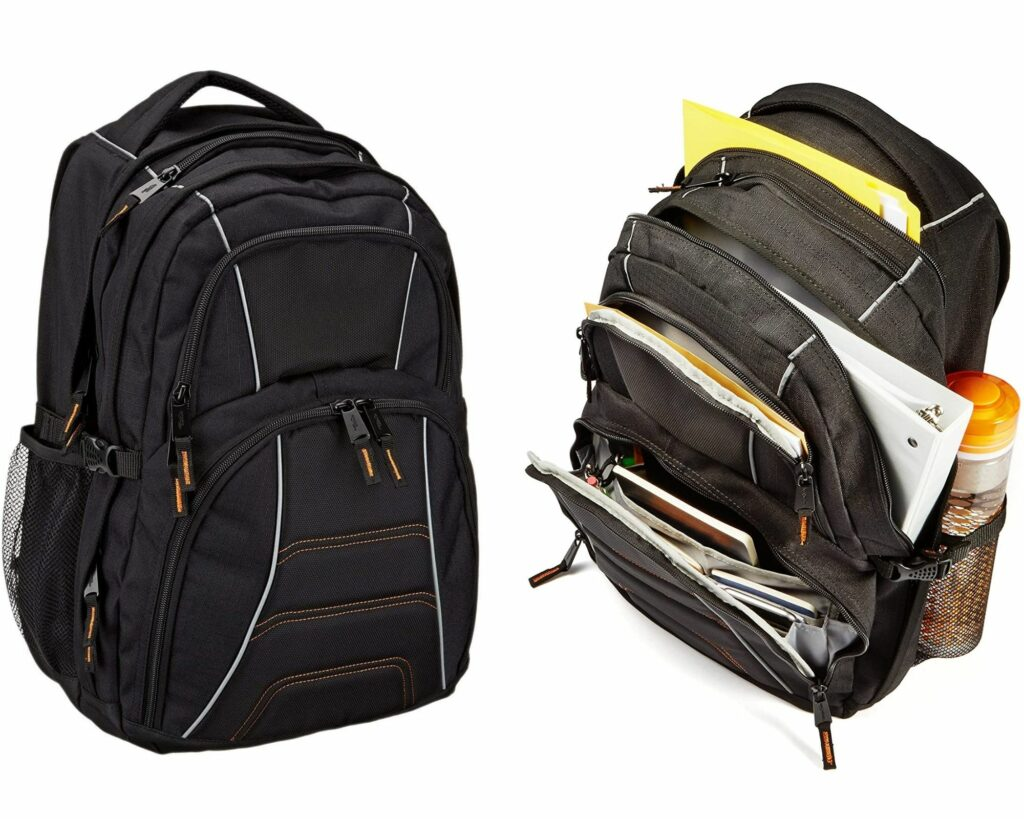 Backpacks with Lots of Pockets and Compartments: AmazonBasics Laptop backpack