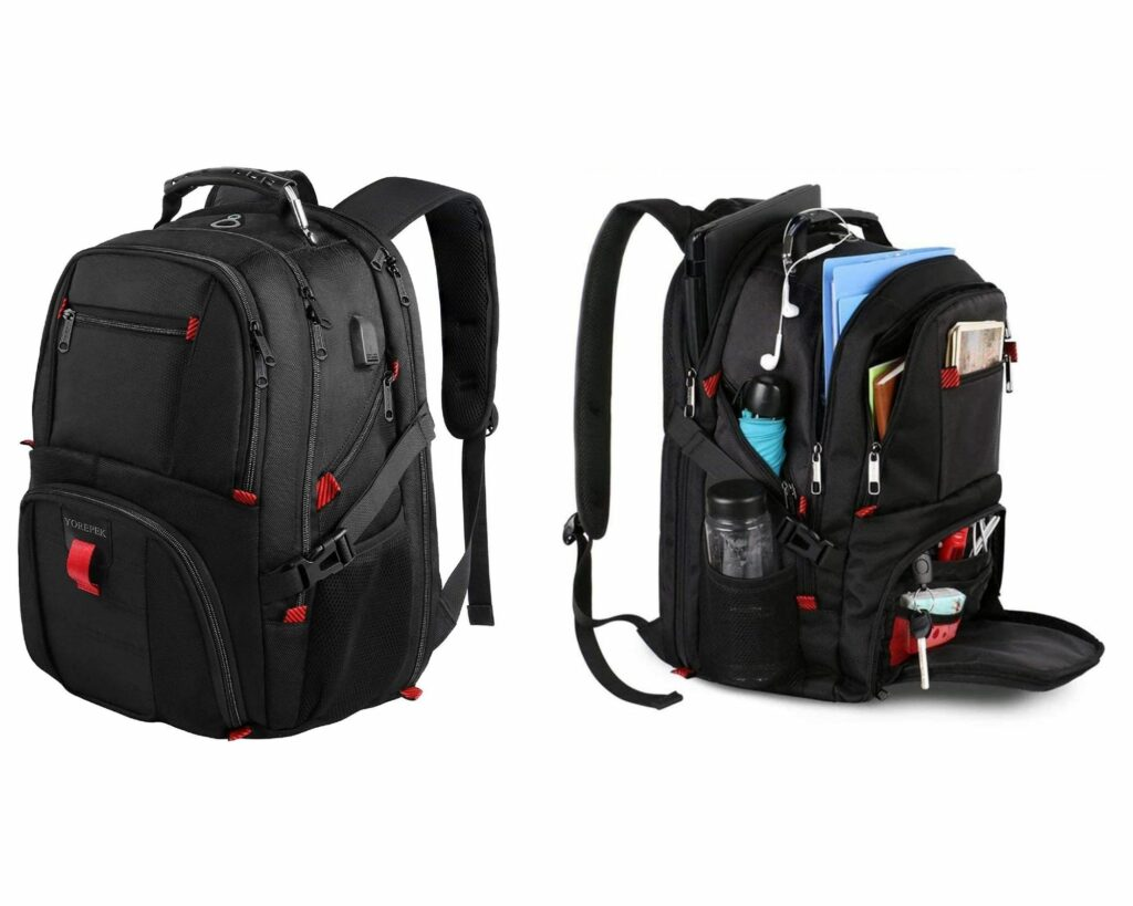 Backpacks with Lots of Pockets and Compartments: Yorepek Travel Laptop backpack