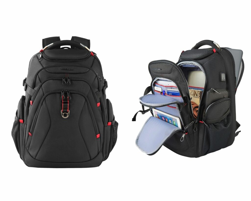Backpacks with Lots of Pockets and Compartments: Kroser Travel Laptop Backpack