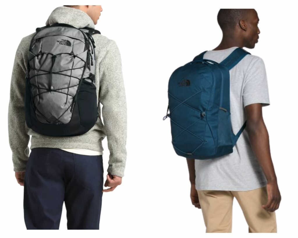The North Face Borealis backpack vs The Jester: The North Face Jester and Borealis on male models
