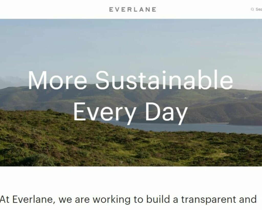Eco friendly backpack review: Everlane Sustainability mission
