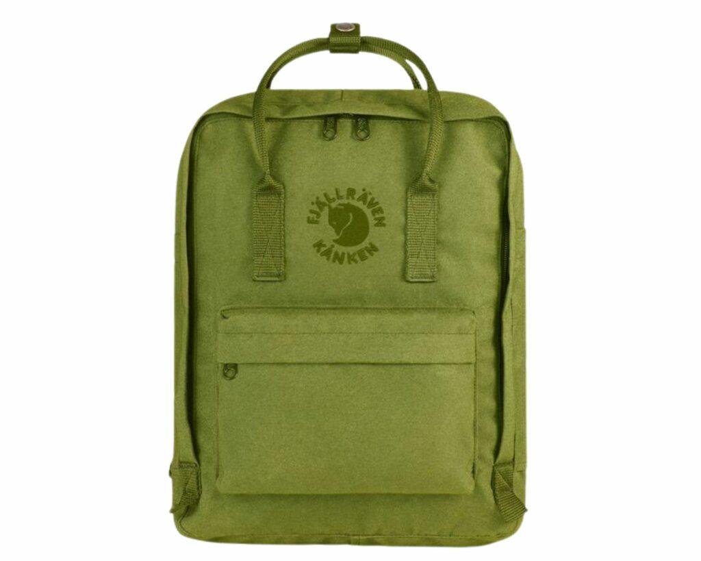 Eco friendly backpack reviews: Fjallraven Re-Kanken