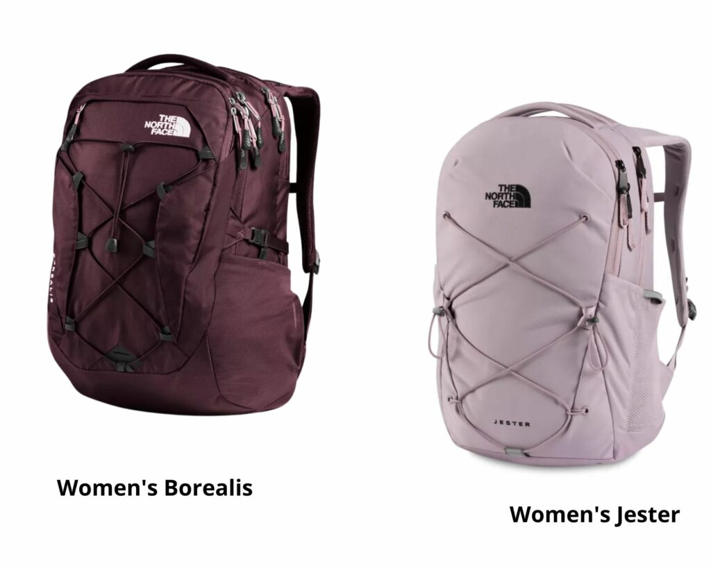 The North Face Borealis backpack vs The Jester: The North Face Borealis and Jester backpack women backpacks