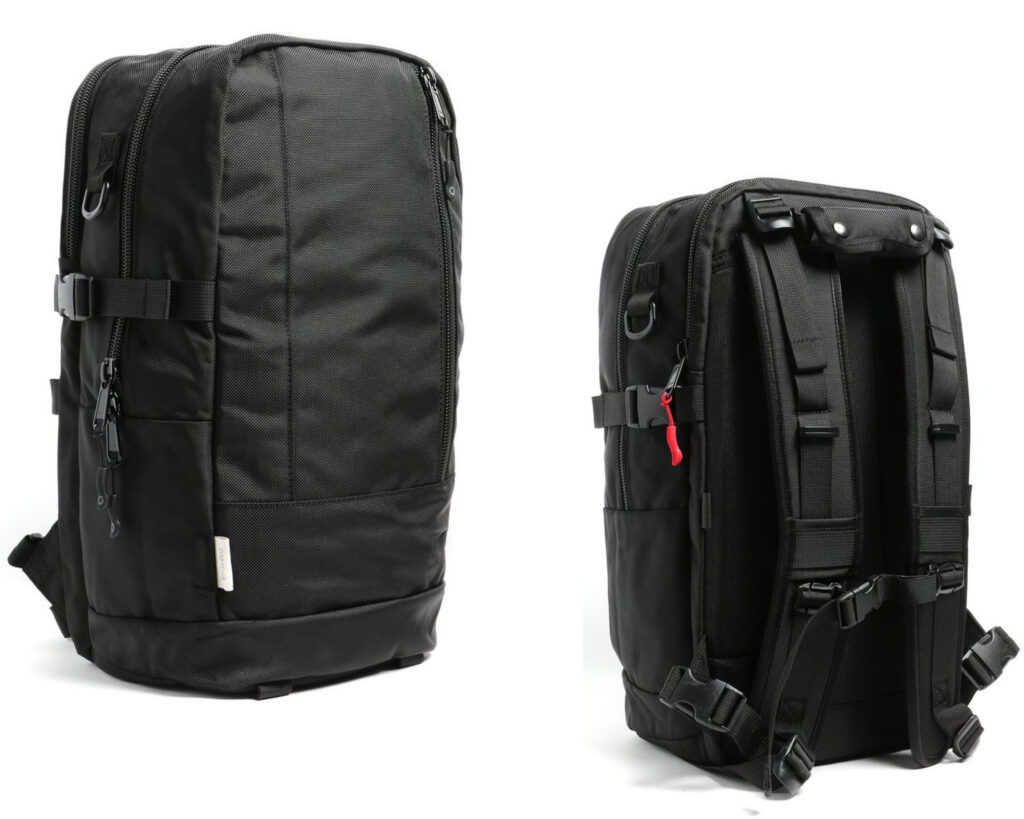 DPTCH Daypack Review: The DSPTCH Daypack front and back view