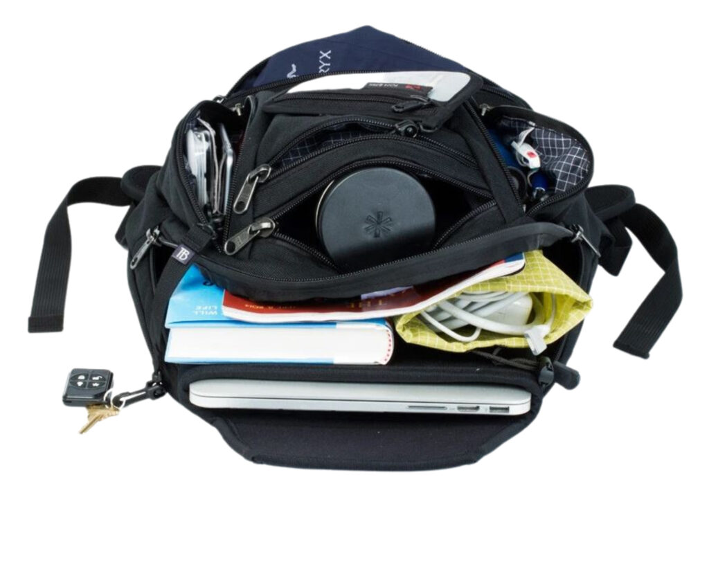 Tom Bihn Synapse 19 review: The Tom Bihn Synapse 19 backpack loaded with contents