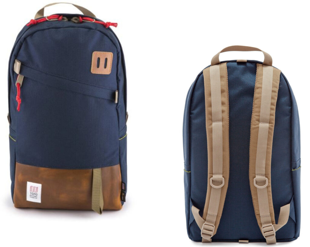 Topo Designs Daypack Review: Topo Designs Daypack front and back view