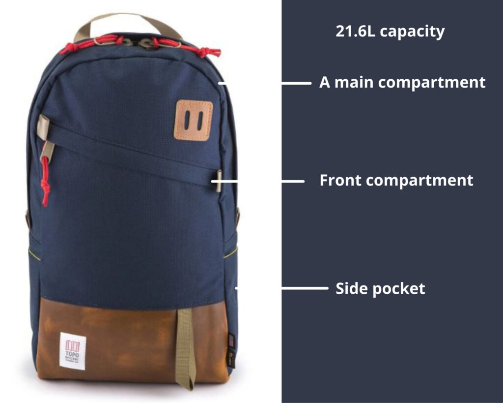Topo Designs Daypack Review: Topo Designs Daypack basic features