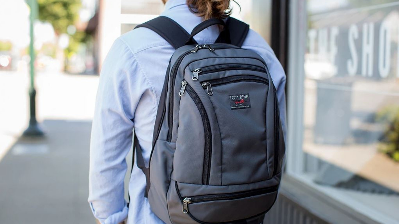 Tom Bihn Synapse 19 review: The Tom Bihn Synapse19 backpack on a male model