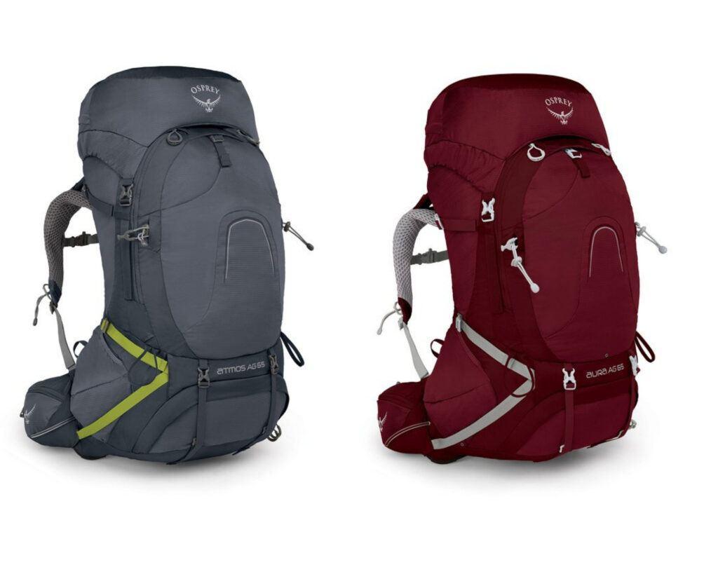 Best backpacks for back pain reviews: Osprey Pack Atmos AG 65 / Aura AG 65