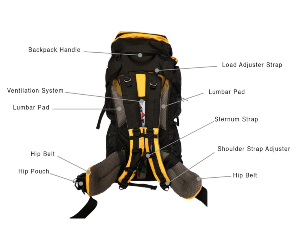 Best backpacks for back pain: Anatomy of a hiking backpack