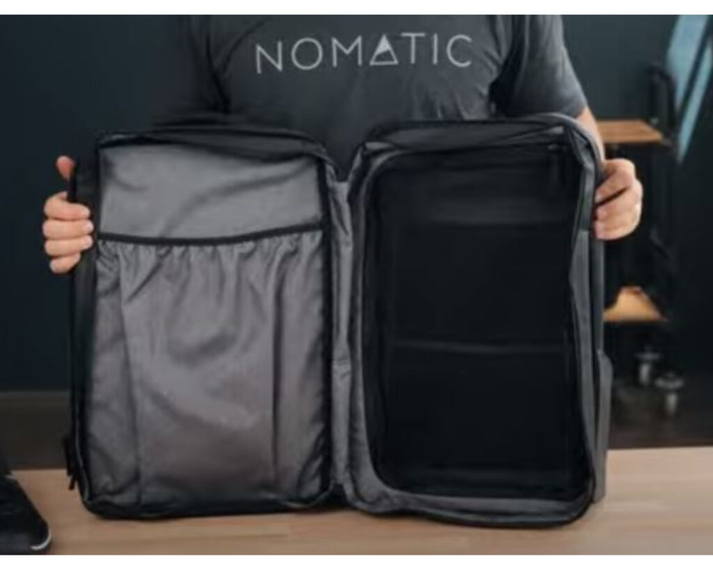 Nomatic Travel Pack review: the Nomatic Travel Pack full view of the main compartment