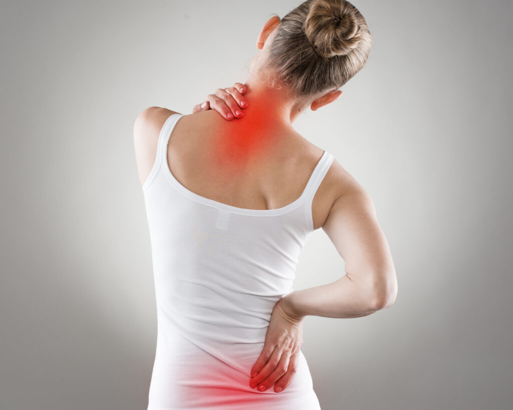 Best backpack for back pain - woman with pre-existing back pain