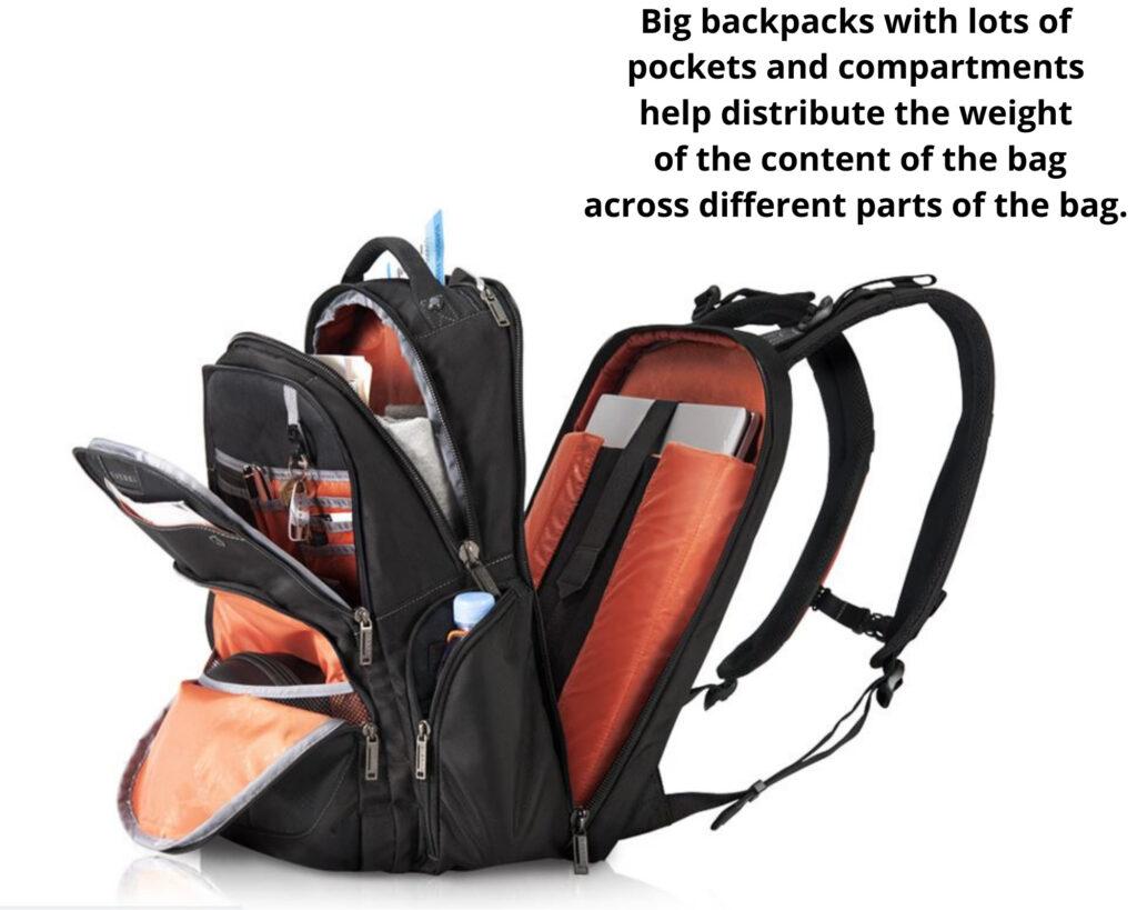 Best backpack for backpain: Everski Atlas backpack