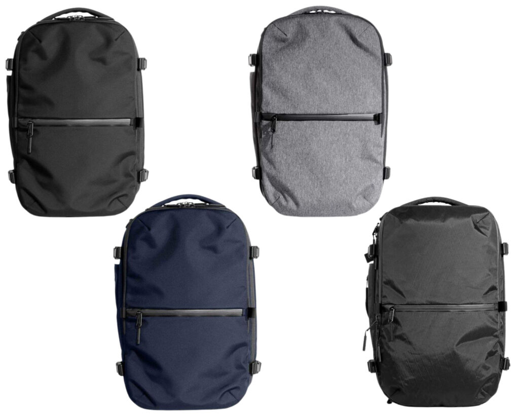 AER Travel Pack 2 review: four colorways of the AER Travel Pack 2