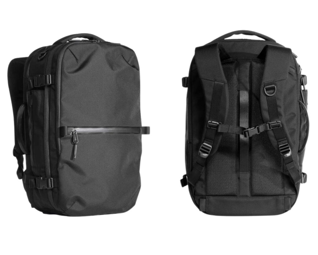 AER Travel Pack 2 review: front and back view of the AER Travel Pack 2
