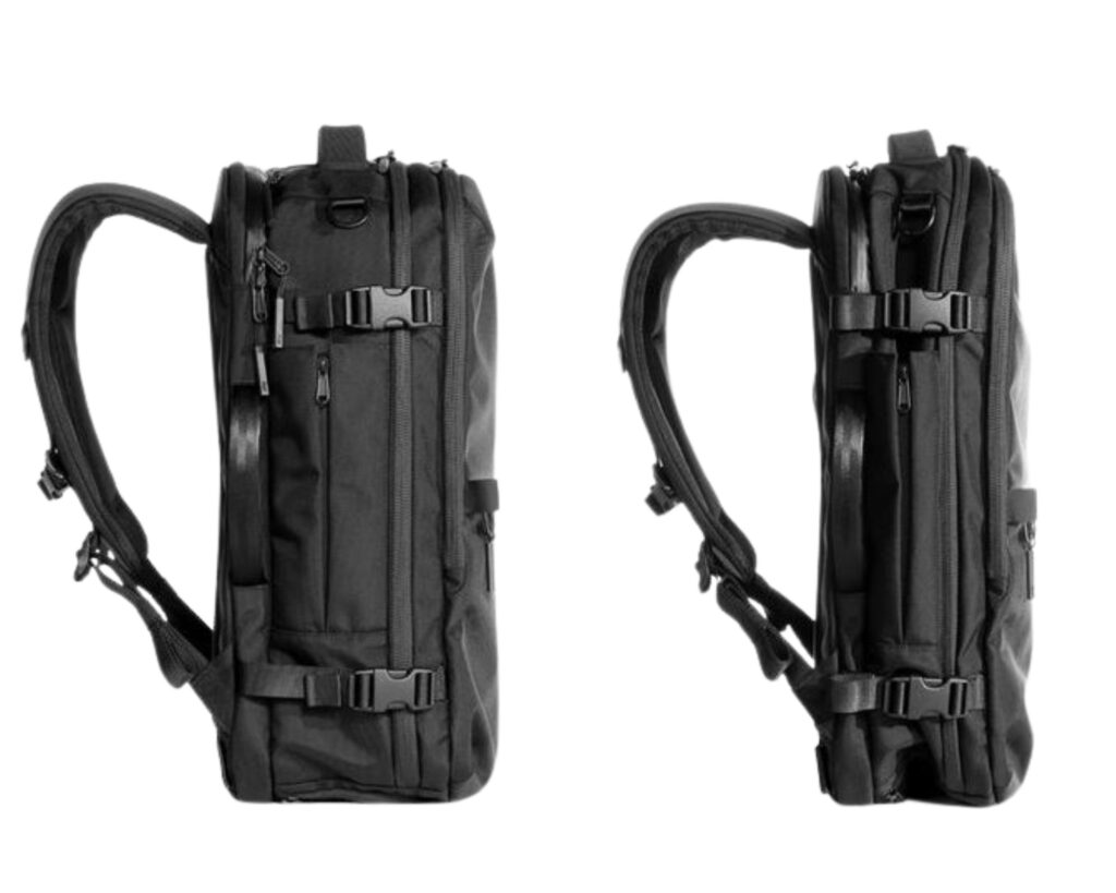 AER Travel Pack 2 review: compressed and uncompressed view of the AER Travel Pack 2