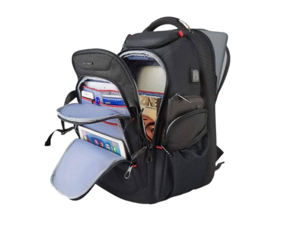 Best backpacks for techies; Kroser laptop backpack