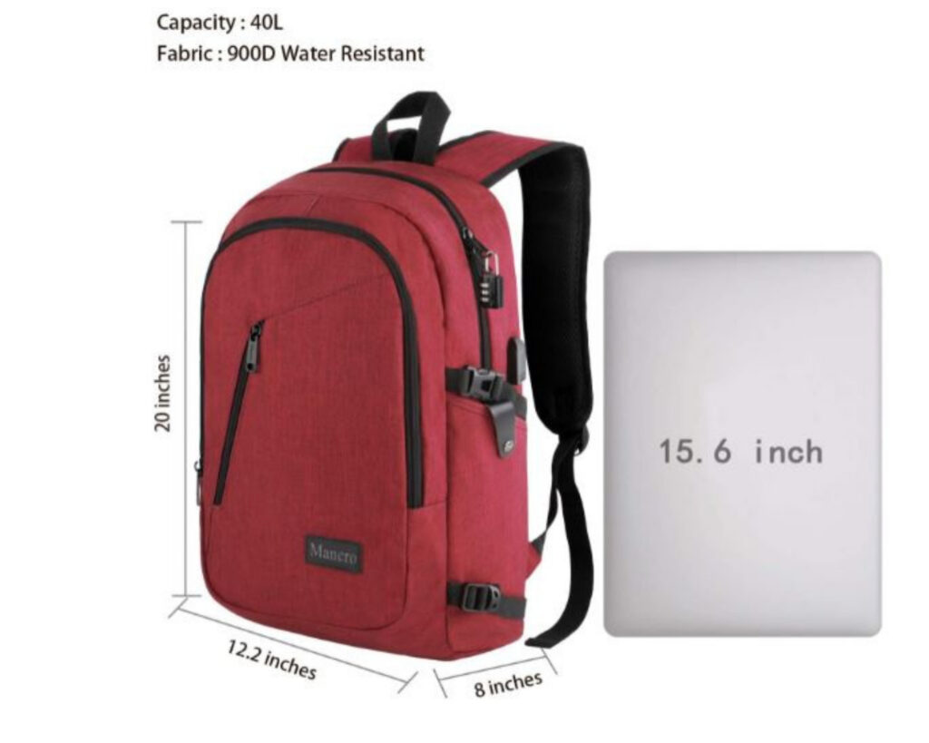 Best backpacks for techies; Mancro laptop backpack