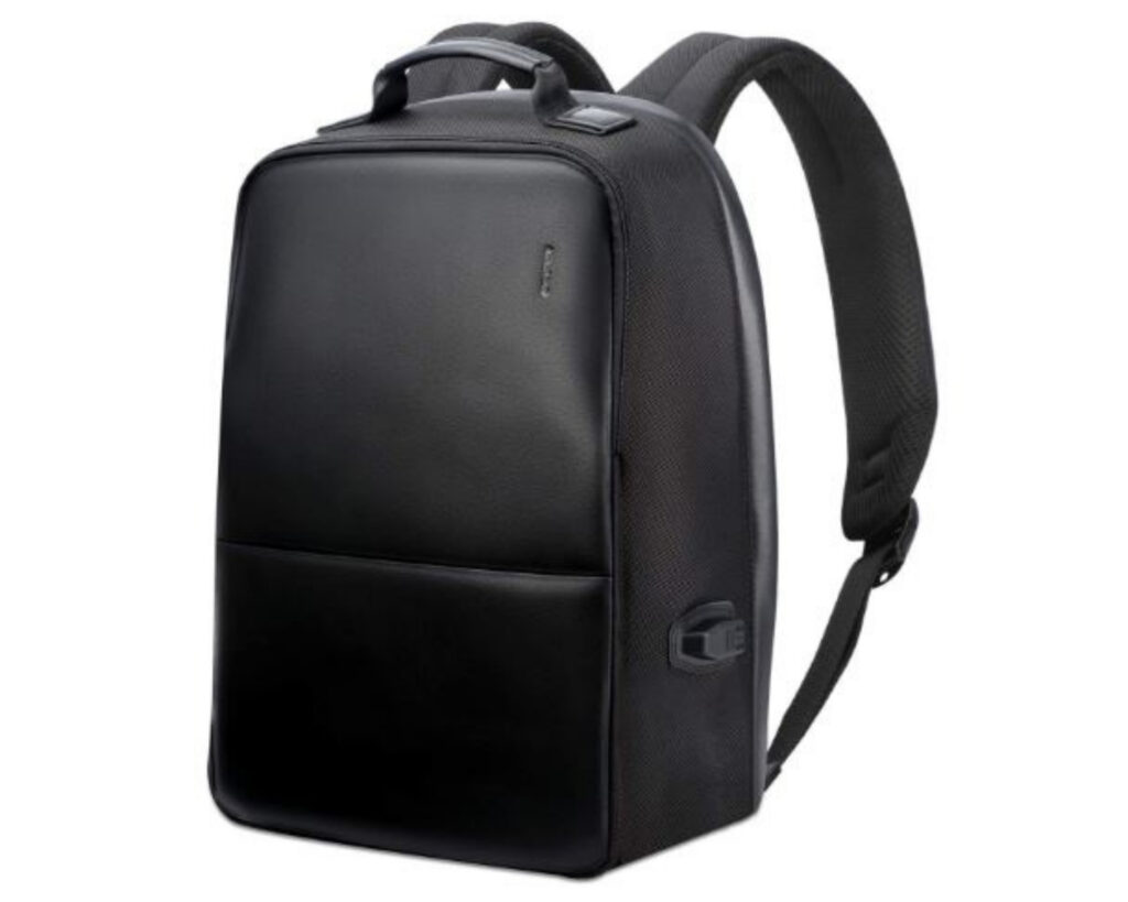 Best backpacks for techies: BOPAI leather laptop backpack