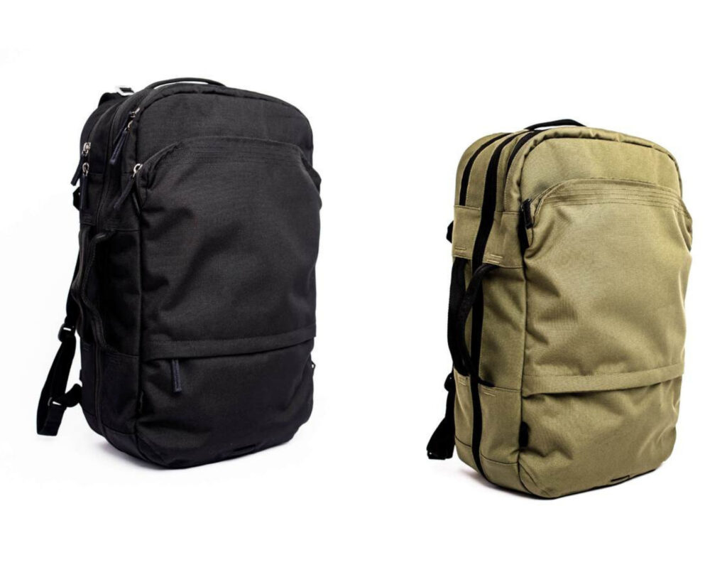 Pakt Travel backpack review: the Pakt Travel backpack black and green color option