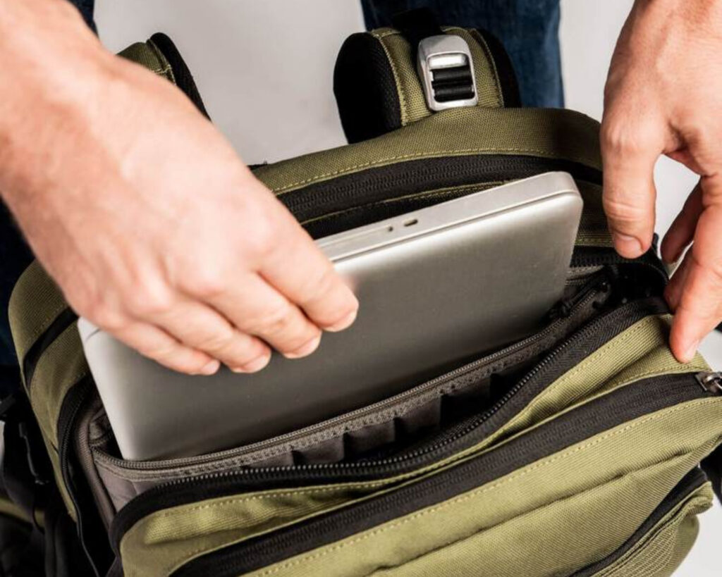 Pakt Travel backpack review: the laptop sleeve of the Pakt Travel backpack