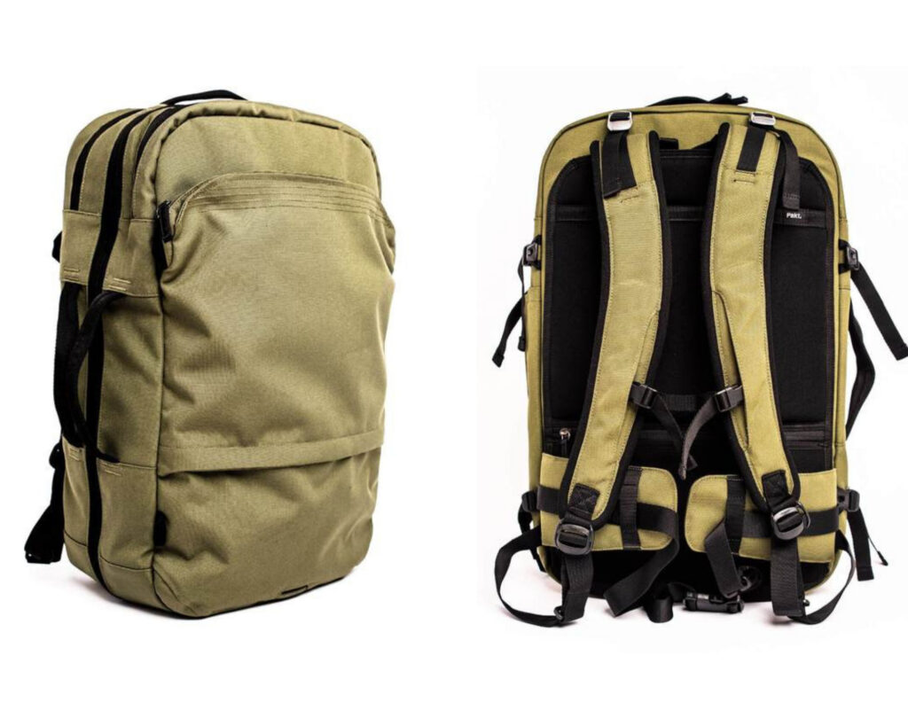 Pakt Travel backpack review: the Pakt Travel backpack front and back view